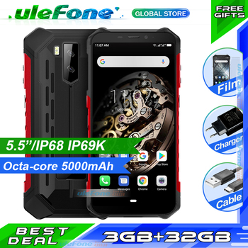 Ulefone Armor X5 IP68 Rugged Waterproof Smartphone MT6763 Octa core Android 9.0 Cell Phone 3GB 32GB NFC 4G LTE Mobile Phone 1