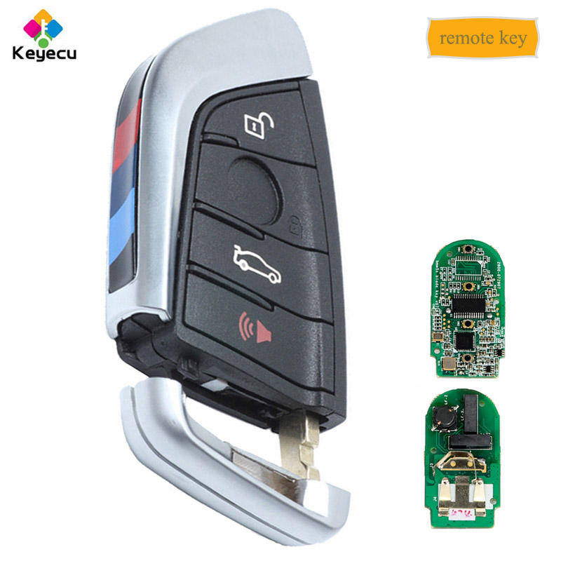 KEYECU YH noir Smart Remote Key Fob 315 MHz/433 MHz pour BMW série F CAS4 +/FEM 2011 2017X3X4 2014 2017 F25 2014 2017 F87/F80-in Clé de voiture from Automobiles et Motos on Keymall Store