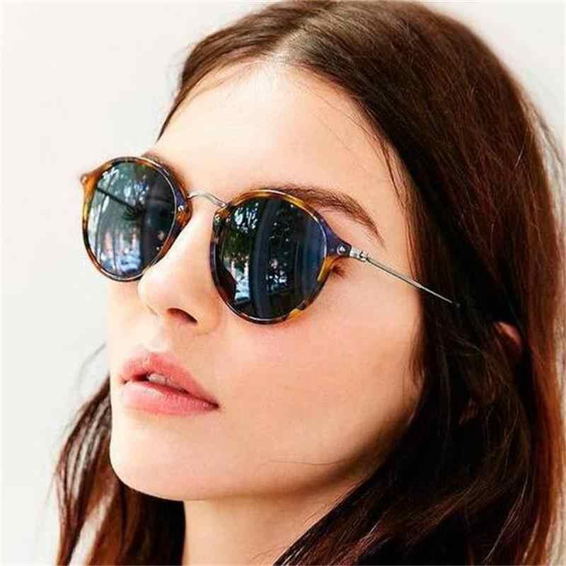 Ретро Круглые Солнцезащитные очки для женщин Роскошные брендовые дизайнерские