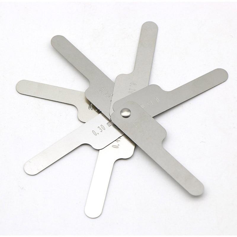 Orthodontic Ruler Stainless Steel Dental Orthodontic Interproximal Enamel Reduction IPR Gauge Ruler 0.1-0.5mm
