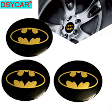4pcs/lot Universal Car Emblem Badge Sticker Wheel Hub Caps Centre Cover Bat Pattern