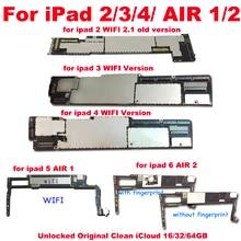 Carte mère 16 go/32 go/64 go débloquée pour ipad 2/3/4/5/Air1/air2/A1395/A1416/A1458, avec Wifi, circuit imprimé principal