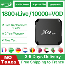 цена на X96 Mini Smart IPTV Subscription France Tv Box Android 7.1 QHDTV Code IPTV Box Arabic French 4K Media Player X96 IP TV TvBox