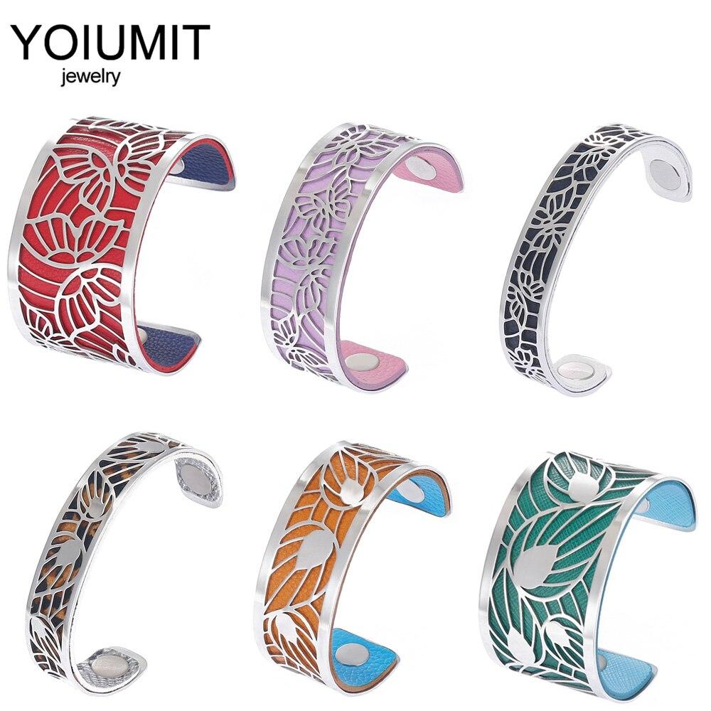Cremo de moda DIY amor pulseras de brazalete para las mujeres pulsera de acero inoxidable Manchette cuero intercambiable Jonc Argent Pulseiras