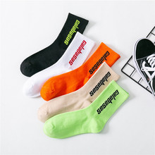 Autumn and winter new ins tide brand tube socks fluorescent color personality street fashion men women
