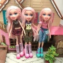 Модная фигурка Оригинальная кукла brпокупки розовые волосы и красивая одежда наряд кукла лучший подарок для ребенка