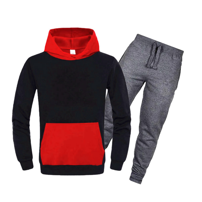 New Tracksuit Brand New Fashion Solid Color Men Sportswear Print Men Hoodies Pullover Hip Hop Mens Patchwork Sweatshirts Clothin