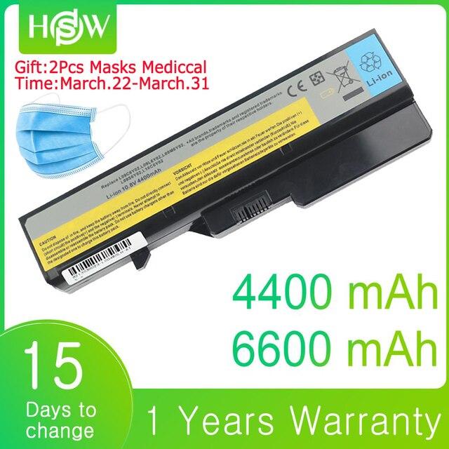 6600mAh 4400mAh 배터리 노트북 레노버 G560 G570 G470 배터리 G460 G465 G475 G565 G575 G770 Z460 V360A E47G Z370 L10M6F21