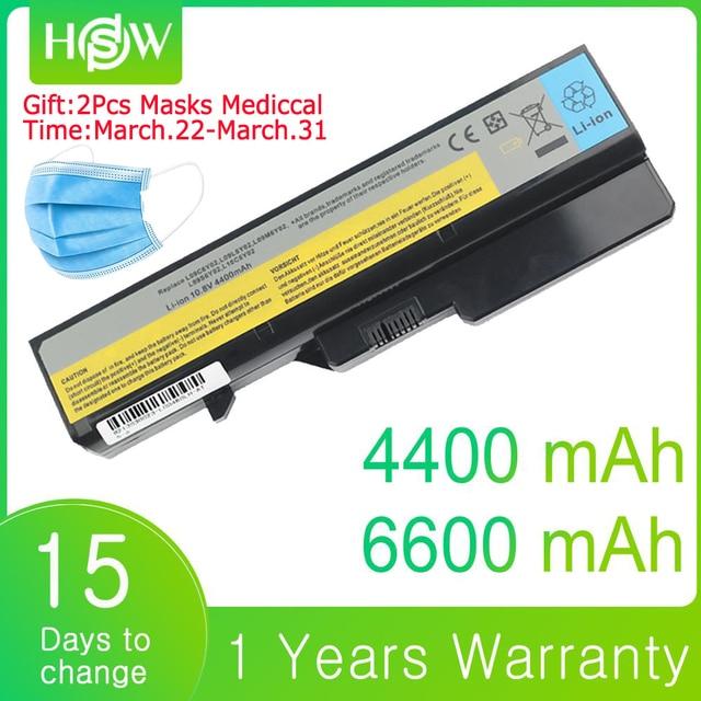 6600mAh 4400mAh סוללה עבור מחשב נייד Lenovo G560 G570 G470 סוללה G460 G465 G475 G565 G575 G770 Z460 V360A e47G Z370 L10M6F21