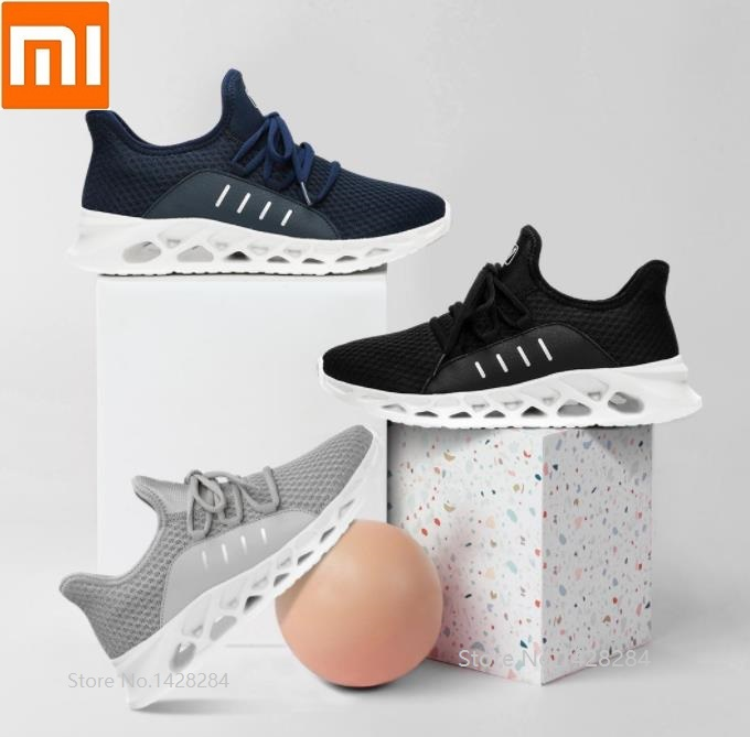 Xiaomi Men sports casual shoes Honeycomb shock absorption Lightweight fashion Non-slip Breathable Outdoor Running sneakers