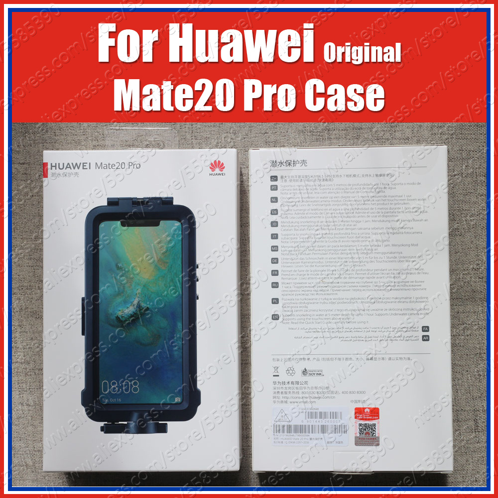 Snorkelling Case Official Original For <font><b>Huawei</b></font> Mate20 <font><b>Pro</b></font> diving Waterproof Case <font><b>Mate</b></font> <font><b>20</b></font> <font><b>Pro</b></font> Underwater shooting <font><b>Cover</b></font> image