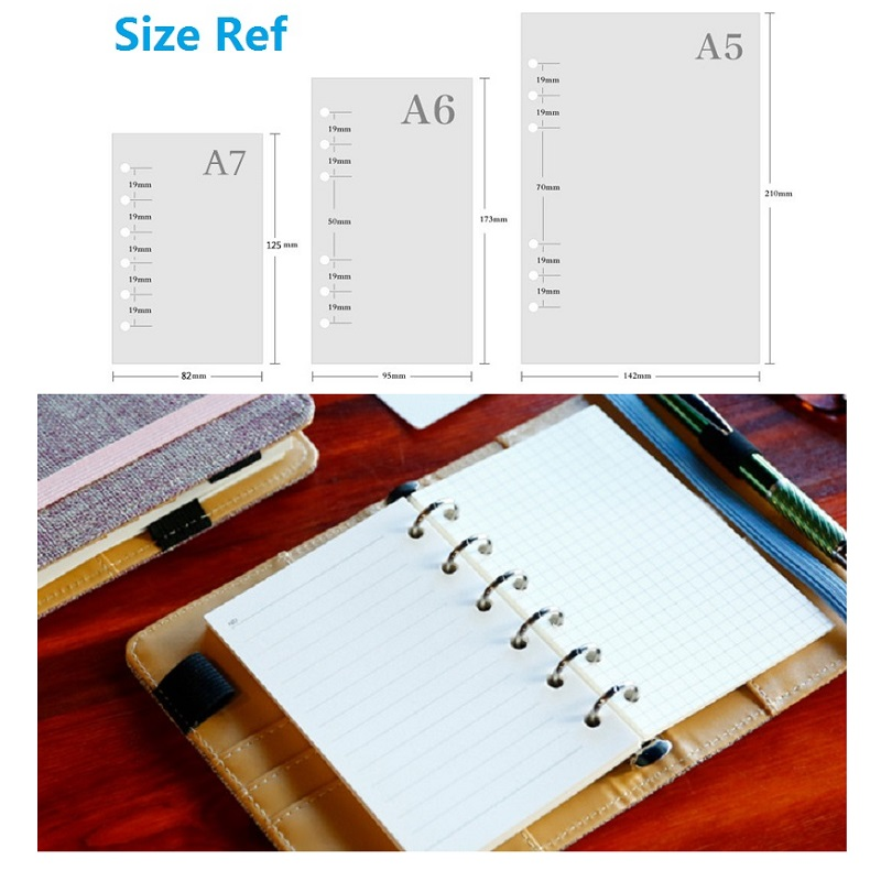 A5 A6 A7 Loose Leaf Notebook Refill Spiral Binder Planner Inner Page Inside Paper Dairy Weekly Monthly Plan To do Line Dot grid 4