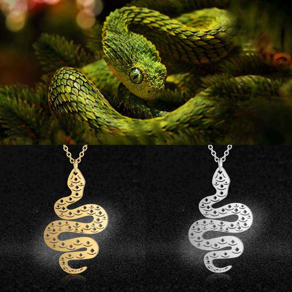 Unique Animal Jewelry Necklaces for Women 100% Stainless Steel Super Fox Lion Snake Unicorn Pendant Necklace Special Gift