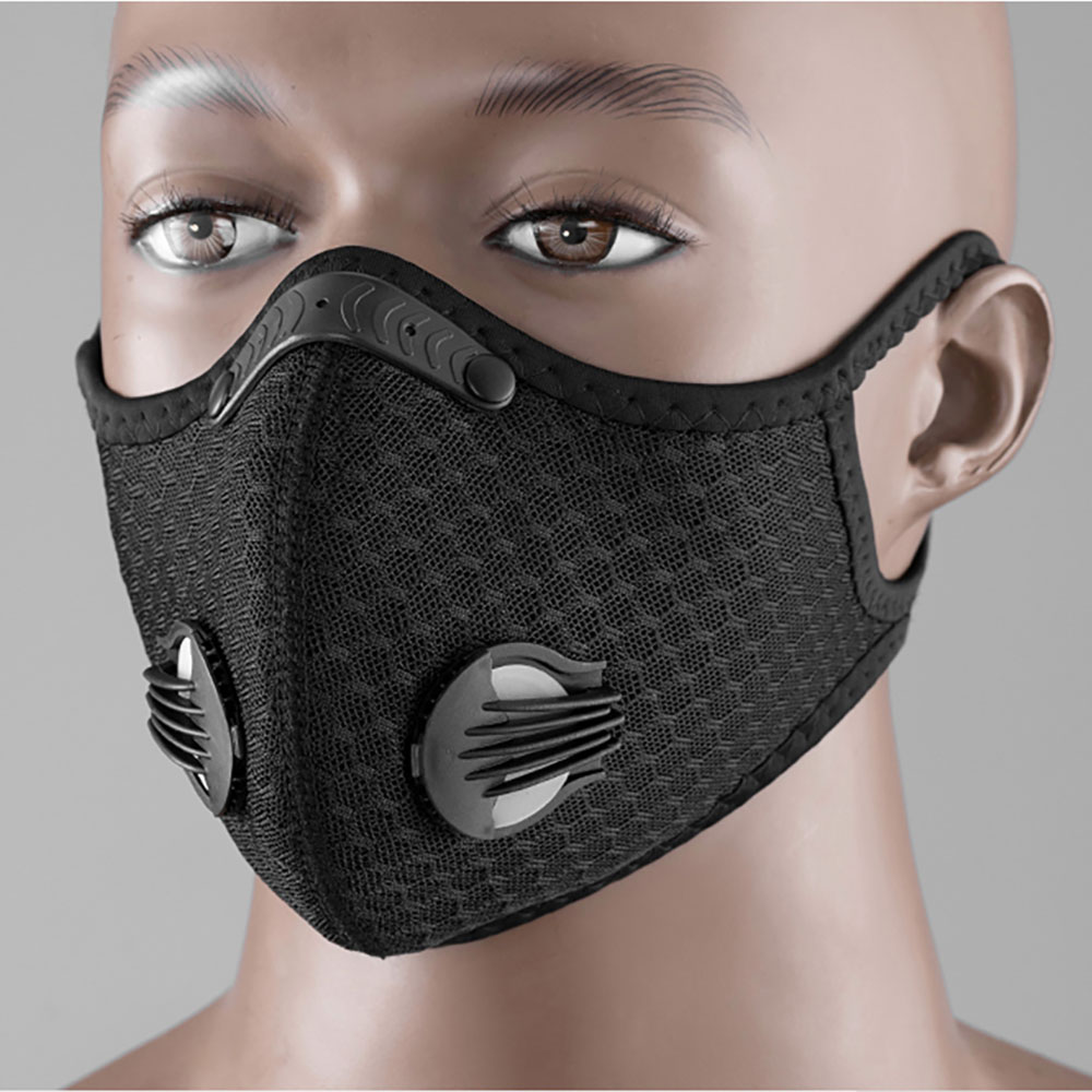 Reusable Face Mask With Activated Carbon Filter PM 2.5 Anti-Pollution Running Cycling Mask Efficient Filtration Anti Haze Masks