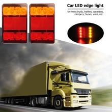 2Pcs 8LED 12V Truck Vans Trailer Tail Lamp Brake Indicator Tail Light For most truck trailers caravans campers buses