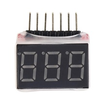 1-6s RC 1S-6S LED Low Voltage Buzzer Alarm Lipo Battery Voltage Indicator Checker Tester test 2.8V -25.2V f00872 lipo battery voltage tester volt meter indicator checker dual speaker 1s 8s low voltage buzzer alarm 2in1 2s 3s 4s 8s