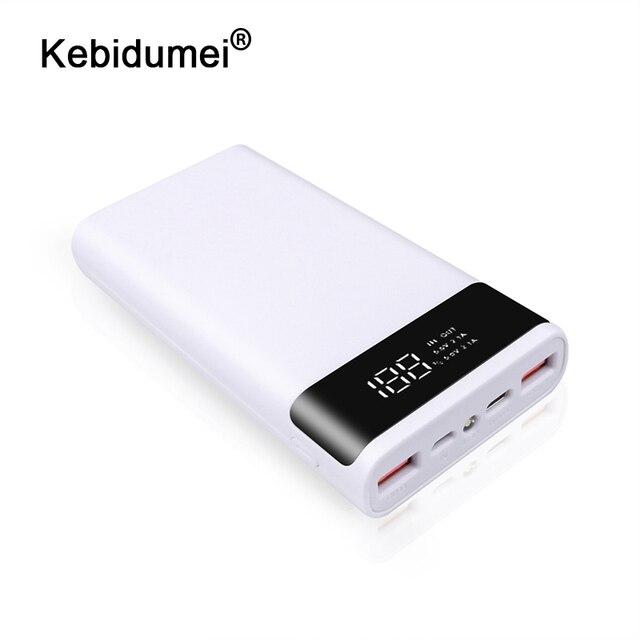 Kebidumei 2สีภายนอก5V DIY 6*18650กรณีเชลล์Power Bankแบตเตอรี่ที่เก็บกล่องไม่มีแบตเตอรี่