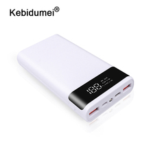 kebidumei 2 colors Portable External 5V DIY 6*18650 Case Power Bank Shell Battery Charge Storage Box Without Battery