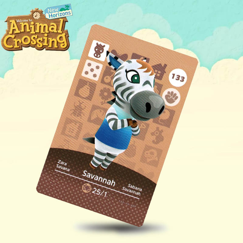 133 Savannah Animal Crossing Card Amiibo Cards Work For Switch NS 3DS Games
