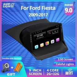 Radio Multimedia con GPS para coche, Radio con reproductor, Android, 2 Din, navegador, DVD, para Ford Fiesta, 2009-2017, 9
