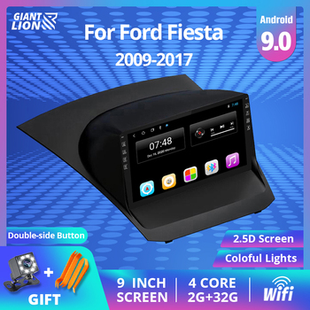 2DIN Android Car Radio For Ford Fiesta 2009-2017 9'' Multimedia Video Player Navigation GPS Car DVD Player No 2 Din Video Player image