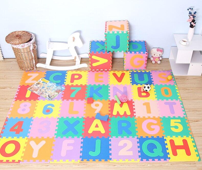 Tapis rampant pour bébé, épaississement 1cm tapis de jeu en mousse EVA/tapis de sol à emboîtement lettre A-Z