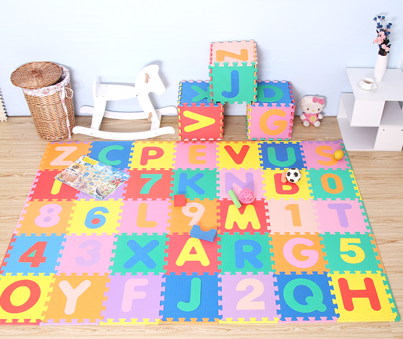 Tapis rampant pour bébé pour enfants, épaississement 1cm tapis de Puzzle de jeu en mousse EVA/lettre A-Z tapis de sol à emboîtement