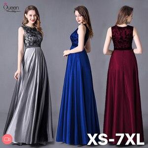 Image 1 - Evening Dress A line Floor Length Sleeveless Elegant Evening Party Gowns with Zipper Back Belt Wedding Guest 2020 Queen Abby