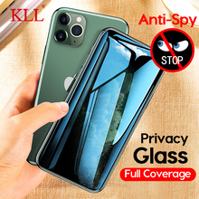 Full Cover Privacy Tempered Glass for iPhone 11 Pro Max X Xs XR Anti-spy Screen Protector 8 7 6 6s Plus