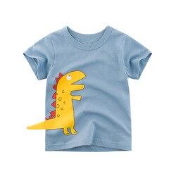 Детская футболка с короткими рукавами футболки для мальчиков; Летняя одежда для маленьких мальчиков и девочек, летний комплект из футболки ...