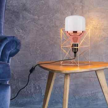 E27 Energy-saving High-brightness Rose Gold LED Bulb Lamp Flat Aluminum Three-proof Lamp Voltage: 180-265V Bulb Light