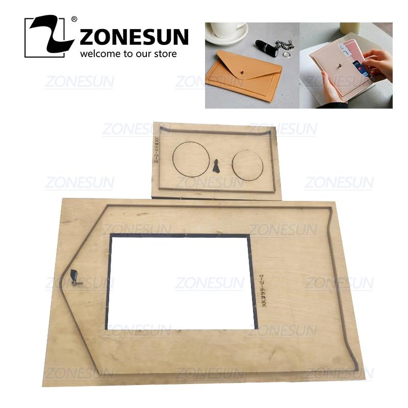 ZONESUN C7 Bank Credit Kaarthouder Custom Leer Snijden Sterven Handwerk Ponsen Tool DIY Papier Clicker Sterven Houten Template - 1