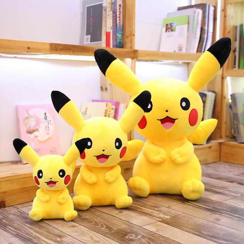 takara-font-b-pokemon-b-font-pikachu-sitting-position-plush-toy-kawaii-anime-doll-lovely-stuffed-gift-for-girl-activity-present