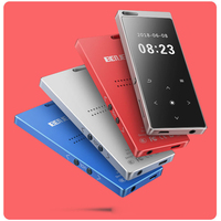Hot selling M3 8G 16G Portable Bluetooth external mp3 mp4 player student mini ultra thin touch lossless playback artifact