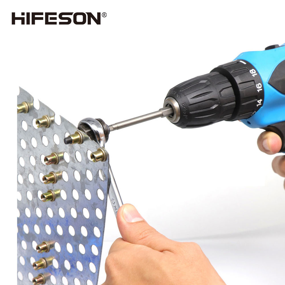 HIFESON Hand Rivet Nut Gun Head Nuts Simple installation Manual Riveter Rivnut Tool Accessory for Nuts M3 M4 M5 M6 M8 M10
