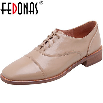 FEDONAS Women Spring Summer Cross-Tied Pumps Genuine Leather Butterfly Knot Square Heels Pumps Pumps Working Concise Shoes Woman