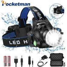 Headlamps 8000lumens Led Headlamp L2/T6 Zoomable Headlight Head Torch Flashlight Head lamp by 18650 battery for Fishing Hunting led headlamp lantern xml l2 5000lm head lamp flashlight torch t6 headlight lanterna headlamps flashlights use 18650 battery