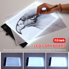 A4 11.5inch Graphics Tablet LED Drawing Tablet Thin Art Stencil Drawing Board Light Box Tracing Table Pad Three-level Dimming portable led drawing board touch dimmable tracing table light pad box with clip for 2d animation sketching gadgets