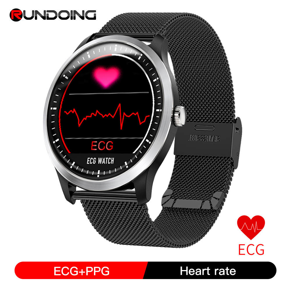 RUNDOING N58 ECG PPG smart watch with electrocardiograph ecg display,holter ecg heart rate monitor blood pressure smartwatch|Smart Watches|   - AliExpress