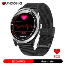 Rundoing N58 PPG relogio com ecg electrocardiógrafo ECG display, pressão arterial holter ecg monitor de freqüência cardíaca smartwatch