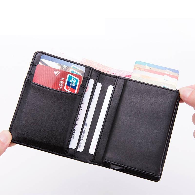 BISI GORO Vintage Men Wallet Genuine Leather Smart Wallets Male Multifunctional Card Holder Cowhide Male Purse  Luxury Wallet