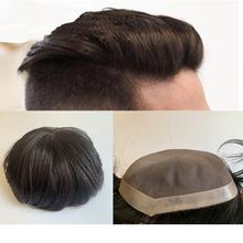 Peruka dla mężczyzn włosy s dla Mono tupecik z ludzkich włosów mężczyźni włosy poli skóra wokół systemu włosów trwałe #2 kolor w magazynie tanie tanio BYMC = 30 CN (pochodzenie) 6 miesięcy Natural Color Remy włosy Europejski włosów sally