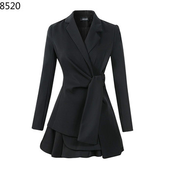 Fashion Women Skirt Suits Temperament Casual Professional Slim Blazer Jackets Mini Skirts 2 Pieces OL Sets Sexy Female Outfit