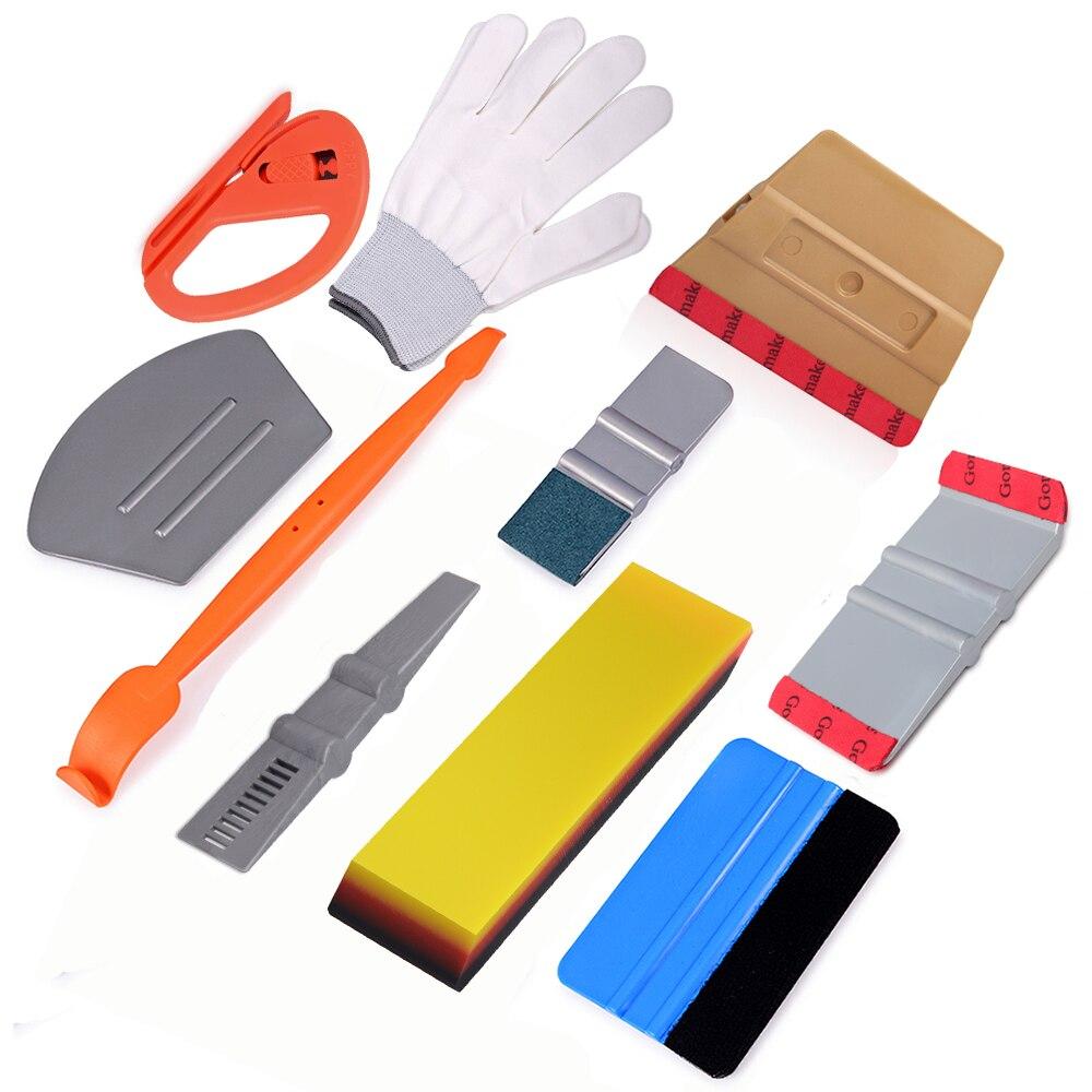 EHDIS Carbon Fiber Vinyl Wrap Magnet Squeegee Scraper Gloves Car Tools Kit Auto Wrapping Car Accessories Window Tint Film Tool