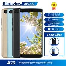 Blackview A20 Smartphone 1GB RAM 8GB ROM MTK6580M Quad Core Android GEHEN 5,5 zoll 18:9 Bildschirm 3G dual Kamera Handy
