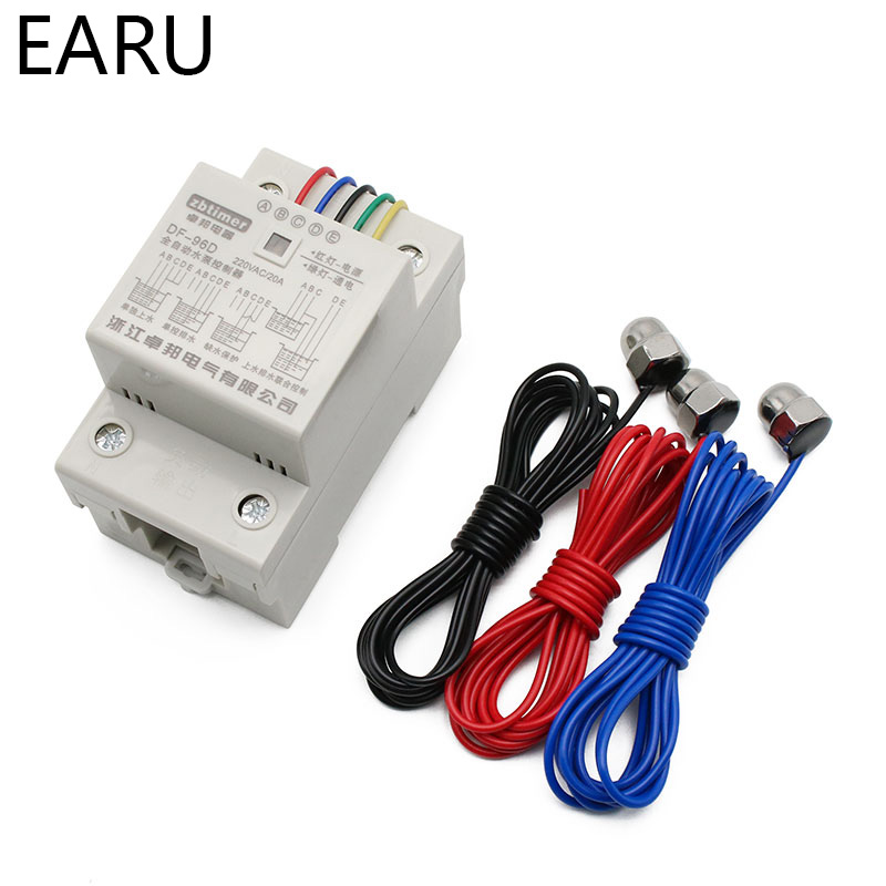 DF-96D Automatic Water Level Controller Switch 10A 220V Water Tank Liquid Level Detection Sensor Water Pump Controller