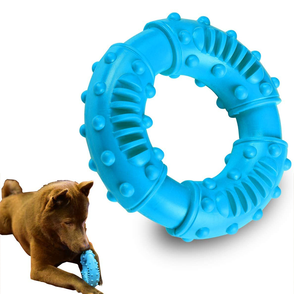 Durable Dog Chew Toy for Aggressive Chewers Tough Natural Rubber Puppy Teething Toy Indestructible Dog Toy for Reduce Anxiety