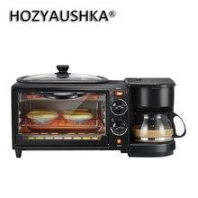 3-em-1 máquina de café da manhã 600w cafeteira + 750w sushi + 750w forno pão máquina de assar torradeira/ovo frito/fogão de café