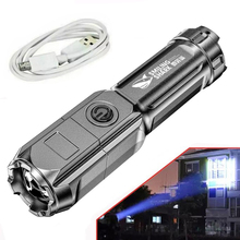 Portable Flashlight Strong Light High-power Rechargeable Zoom Highlight Tactical Flashlight Outdoor Lighting LED Flashlight