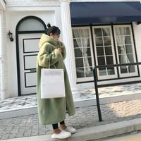 New Spring Winter 2019 Women Fur Coat Casual Fashion Korean Edition Loose Imitation Rabbit Hair Hooded Long Coats Hot Sale